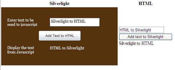 Html & Silverlight integration preview
