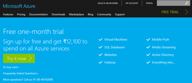 Azure Services Free Trial