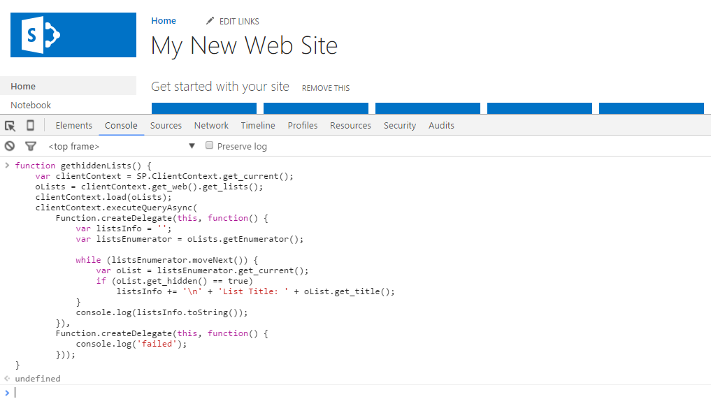 Browser Console 1