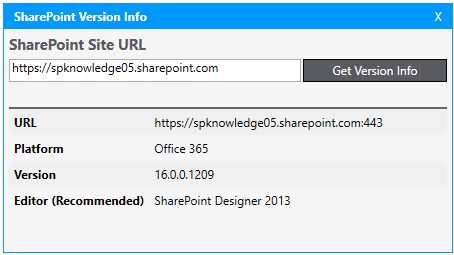 SharePoint Version Identifier