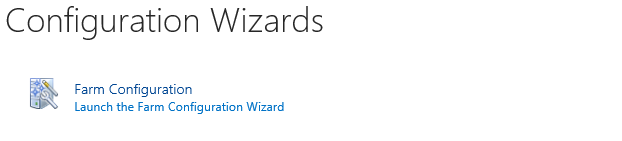 Configuration Wizards
