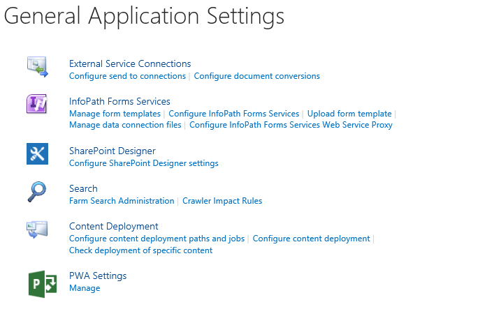 General Application Settings