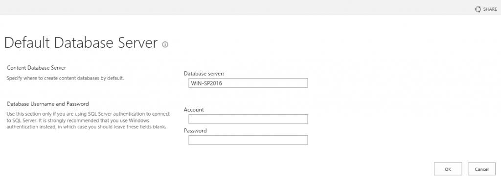 defaultdatabaseserver
