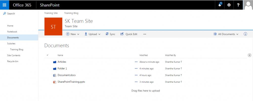 Modern SharePoint Document Library