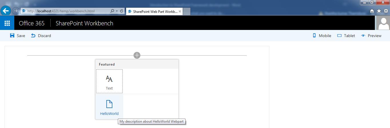 Introduction to SharePoint Framework development