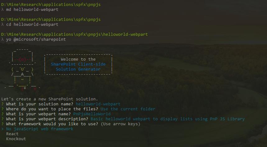 SharePoint Framework Project Generator