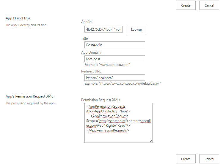 Fig 4: Set Permissions to Add-In