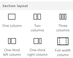Section Layouts