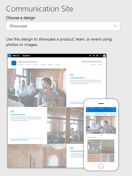 Showcase Site Design