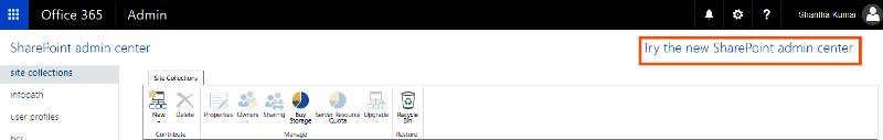 Modern Admin Link