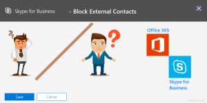 Block External Users in Skype for Business