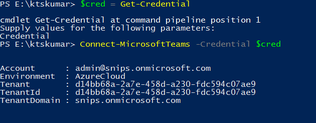 Connecting MicrosoftTeam