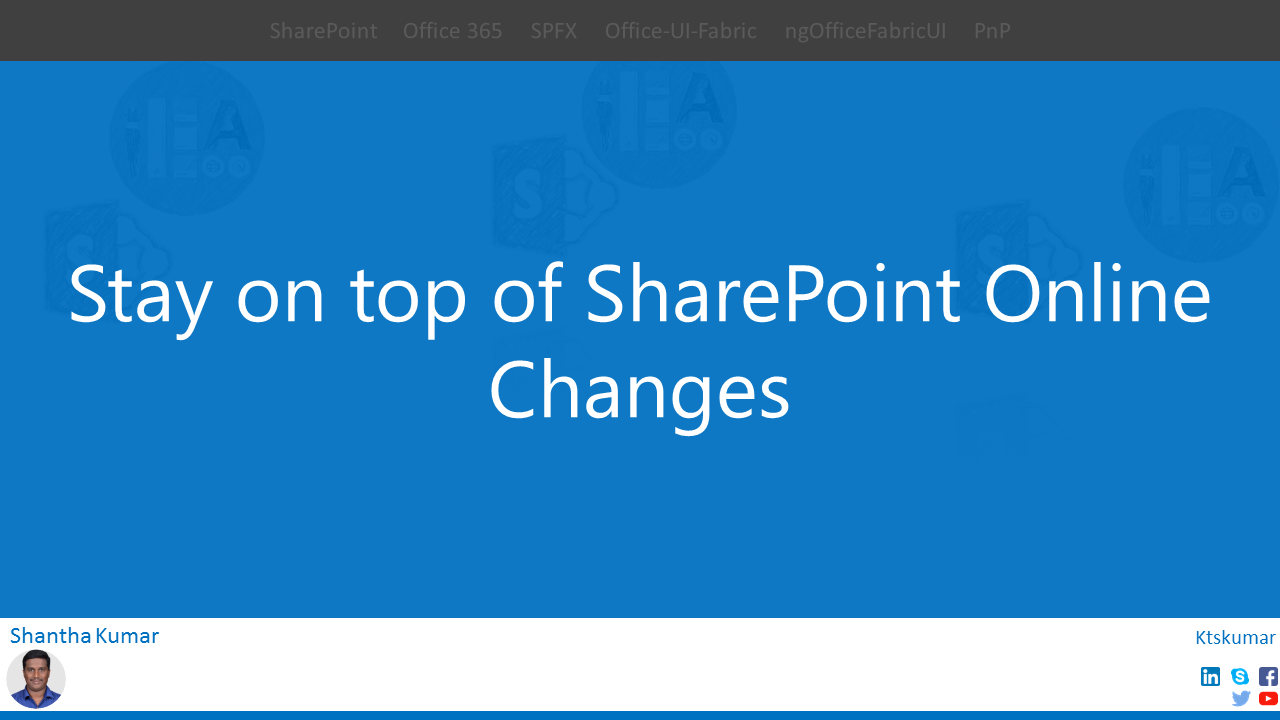 Don't miss the cool demos on SharePoint Online updates
