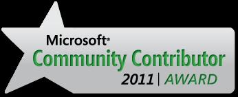 Microsoft Community Contributor Award 2011