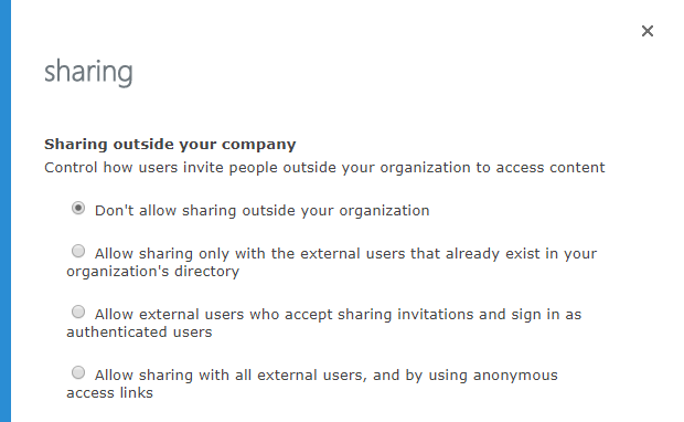 Disable External Sharing