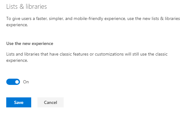 Apply Modern Experience from Modern Admin Center to all Lists across Tenants
